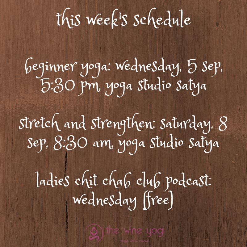 this week's schedule